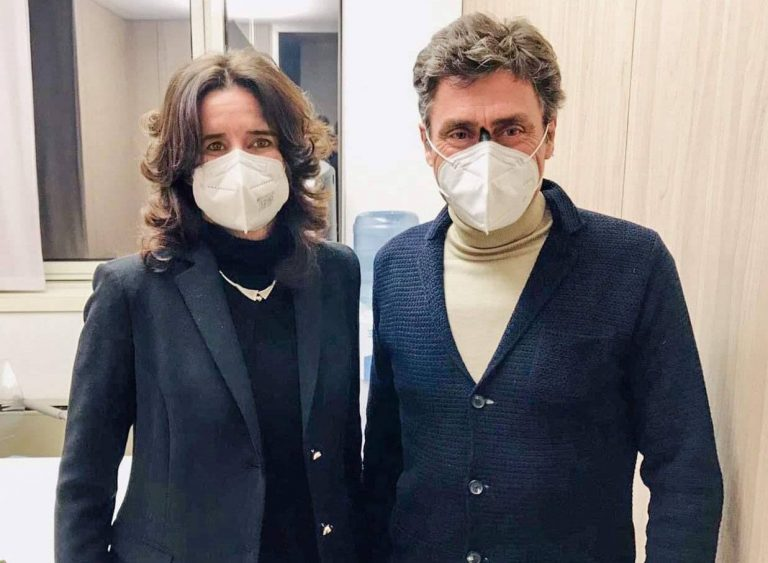 Norma Gimondi al fianco di Silvio Martinello nella corsa per la Presidenza FCI